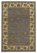 KAS Oriental Rugs Lifestyles Slate/Ivory Kashan Rug Rug Size