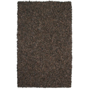 St. Croix Pelle Leather Dark Brown Rug Rug Size
