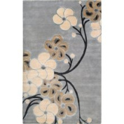 Smithsonian Hand-knotted Lacostos Grey Wool Rug