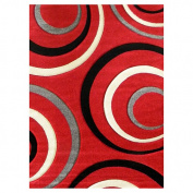 DonnieAnn Company Studio 605 Red Geometric Design Rug Rug Size