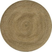 Test Hand-woven Braided Bleached Natural Jute Rug