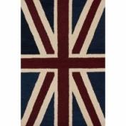 nuLOOM Marbella Union Jack Denim Novelty Rug Size