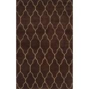 Surya Carpet Inc. Hand-knotted Lewisville Brown Wool Rug