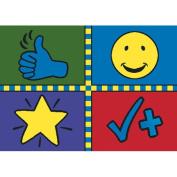 Joy Carpets Kid Essentials Early Childhood Motivation Mat Rug, Multicoloured, 1.5m x 2.1m