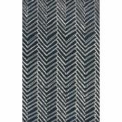 Handmade Chevron Denim Wool Rug (5' x 8')