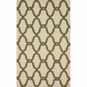 Handmade Moroccan Trellis Natural Wool Rug (5' x 8')