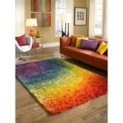 Cantebury Rainbow Shag Rug