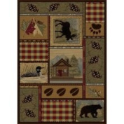 Nature 6548 Brown 8x11 Nature Collection - Tayse Rugs 6548 Brown 8x11