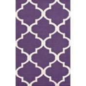 nuLOOM Marbella Moroccan Trellis I Purple Kilim Rug Rug Size
