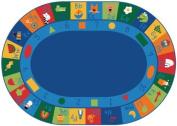 Carpets for Kids Printed Learning Blocks Kids Rug Size