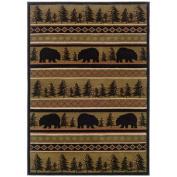 Boylston Industries Hunter Bear Novelty Rug Size