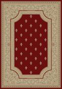 Concord Charlemagne Fleur de Lys Red Rug Rug Size