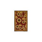 Homefires AR-JB012E Provence Sunflowers Red with Yellow Rectangular