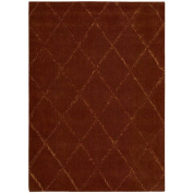 Joseph Abboud Hand-tufted Monterey Red Rug (3'6 x 5'6)