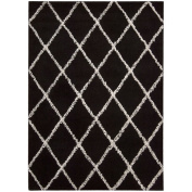 Joseph Abboud Rug Collection Monterey Black/White Rug Rug Size