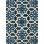 Sphinx - Caspian 969W 8'15cm x 13' Rectangular Ivory / Blue Area Rug