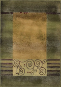 Sphinx - Generations 213F 8' x 8' Square Green / Beige Area Rug