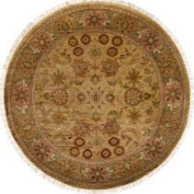 Sci Hand-knotted Finial Beige Wool Rug
