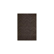 Joseph Abboud Hand-tufted Modelo Triangle Wave Espresso Rug (5'6 x 7'5)