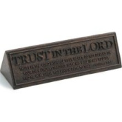 LCP Gifts 11566 Trust in The Lord Resin Desktop Plaque with Bronze