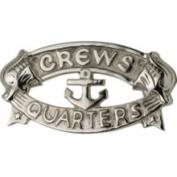 hs 8 x 4 Aluminium Plaque w/Nickel Finish Crew's Quarters