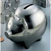 Pig Bank, Large, Pewter Finish.