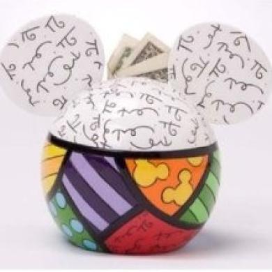 Disney Britto Mickey Mouse Money Bank