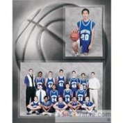 SendAFrame Basketball PlayerTeam 7x53x5 Memory Mates Cardstock Double Photo Frame Sold