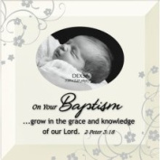 on Your Baptism, 2 Peter 3:18, Glass Photo Frame