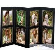SendAFrame 8 Opening 4x6 Black wgold Foil Border Cardstock Photo Frame Sold in 10s