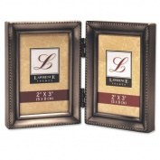 Lawrence Frames Traditional Hinged Double Picture Frame Size