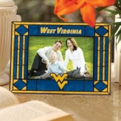 West Virginia Mountaineers 4 x 6 Art Glass Picture Frame