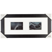 Pinnacle 8-inch-by-51cm Gallery Solutions Frame, matted to Two 6...