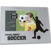Soccer Silhouette Wood and Glass Frame by Prinz
