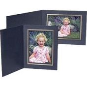 Collector's Black Classic Portrait Folder with Gold Foil Border for