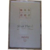 Sixtrees 2-400-46 10cm x 15cm Cambridge Narrow Rim Solid Brass Silver Plated Photo Frame