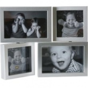 Present Time Dynamic Silver Photo Frame, Plastic, Medium