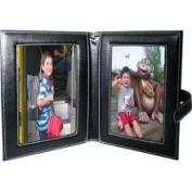 Natico Originals 60-246L Photo Frame, Leather, 2 - 4x6