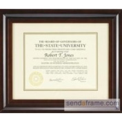 Hampton Luxe Walnut Matted 11x8 15X12 Certificate Frame by Nielsen