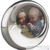Nambe Baby Picture Frame Sleeping Moon 10cm Tall