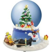 Looney Tunes Sylvester & Tweety Holiday Musical Water Globe
