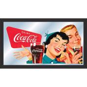 Coca-Cola Horizontal Vintage Mirror - Couple Enjoying Coke