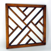 Wayborn Furniture 4819 Happy Wall Mirror, Brown