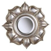Sterling Industries Lotus In Bright Silver Leaf Mirror