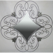 Ashton Sutton Company JC110199 Silver Metal Mirror