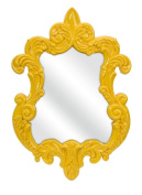IMAX CORPORATION 47381 Finely Yellow Baroque Wall Mirror