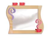 Room Magic RM10-GT Little Girl's Tea Set Wall Mirror