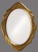 Howard Elliott 4052 Trafalgar Oval Mirror, 48cm x 70cm , Virginia Gold Leaf