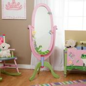 Teamson W-8968A Children's Magic Garden Free Standing Wooden Mirror