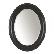 Carolina Cottage QA2532 Contemporary Style Antique Black Oval Mirror